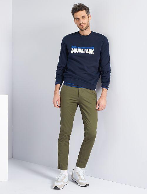 Pantalon slim éco-conçu                                                                                                                                                                                                                                                                                                                                         kaki