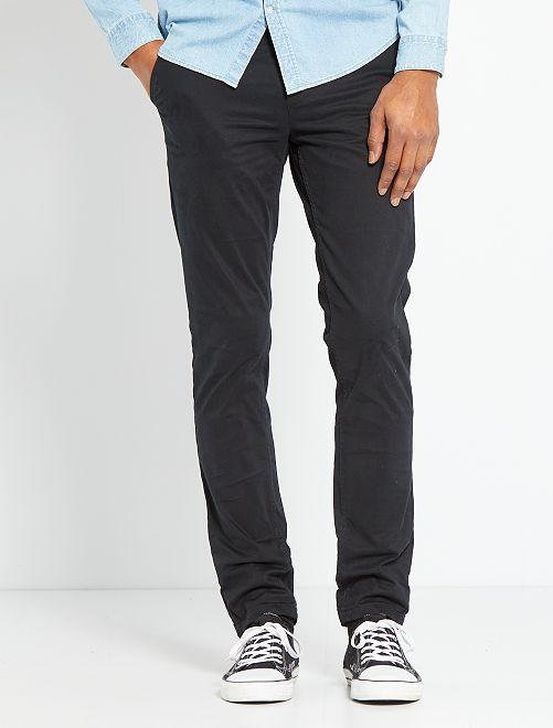 Pantalon slim éco-conçu                                                                                                                                                                                                                                                                                                                                         noir