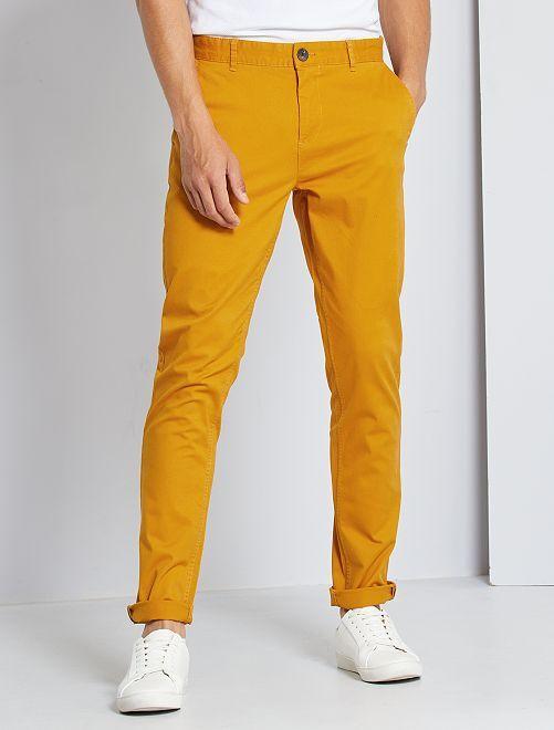 Pantalon slim éco-conçu                                                                                                                                                                                                                                                                                                                                                                                                     orange clair