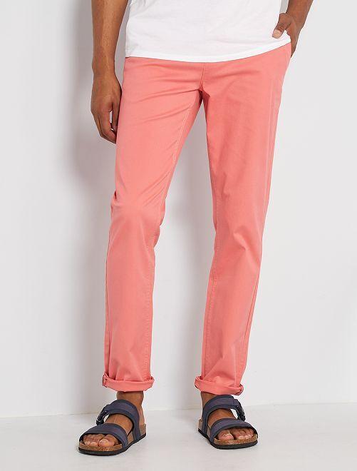 Pantalon slim éco-conçu                                                                                                                                                                                                                                                                                                                                                                             rose corail