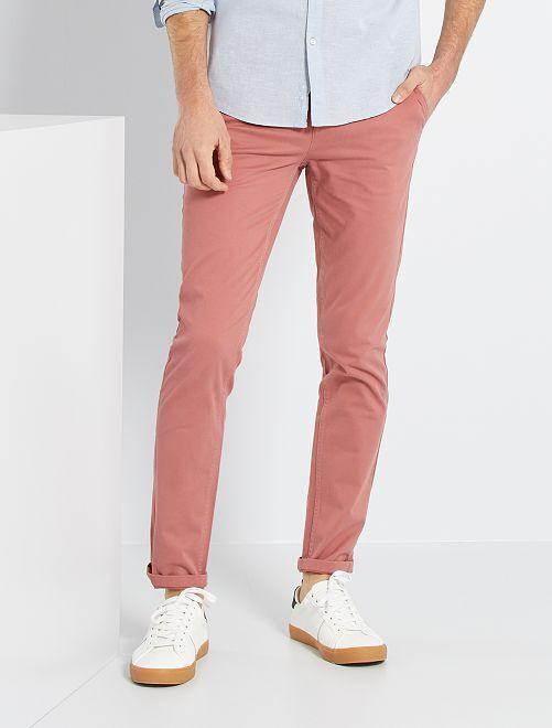 Pantalon slim éco-conçu                                                                                                                                                                                                                                                                                                                                                                 rose