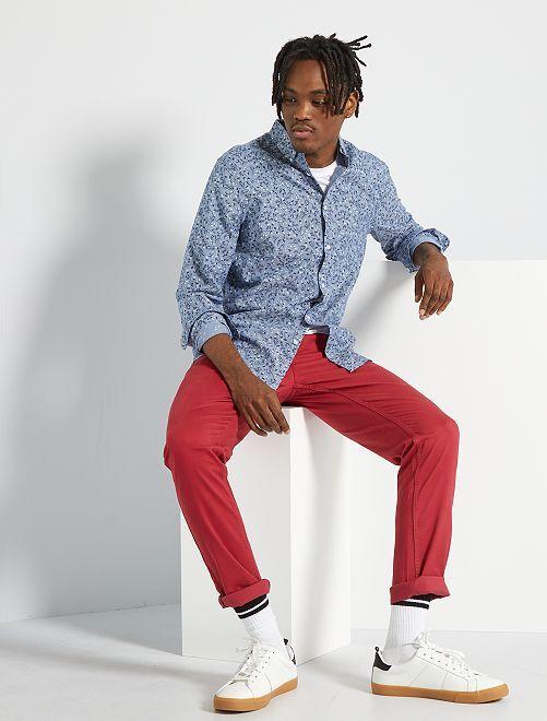 Pantalon slim éco-conçu                                                                                                                                                                                                                                                                                                                                         rouge