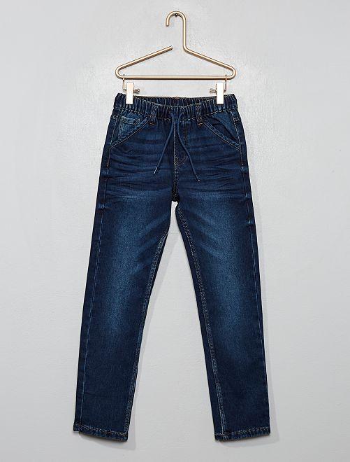 Pantalon slim élastiqué                                         brut