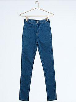 Fille 10-18 ans Pantalon slim en coton stretch