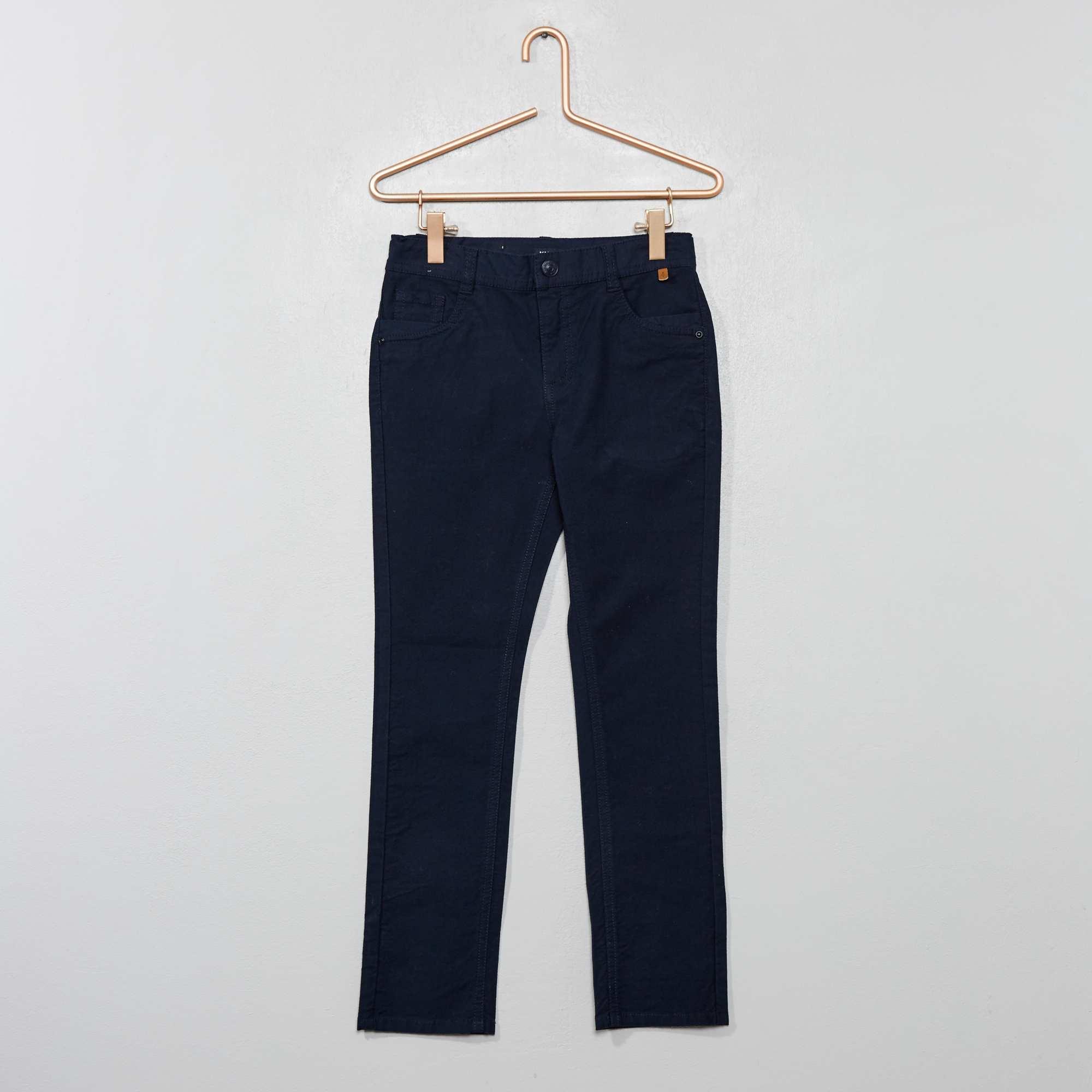 Slim Texturé Stretch Coton Pantalon En Yvbyf76g