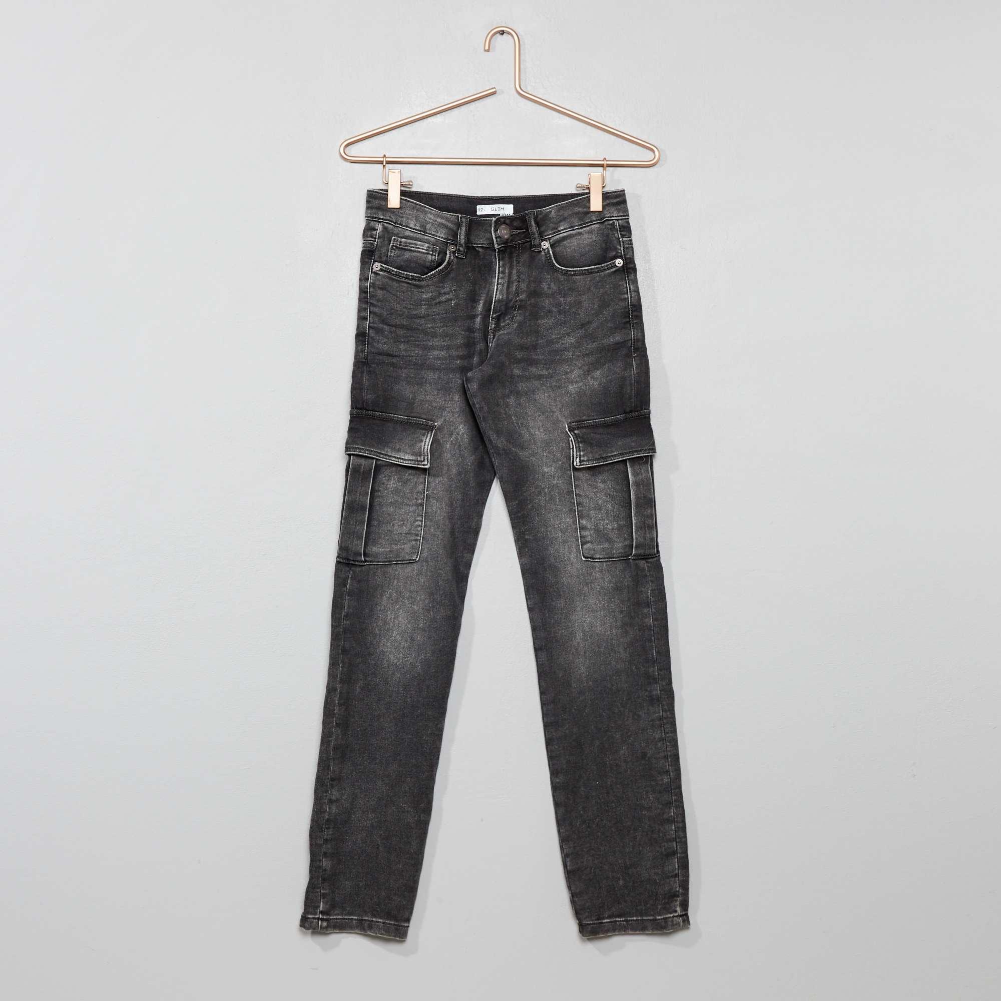 Pantalon Denim En Stretch Slim Pantalon Slim mnONv80w