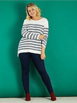Pantalon taille 50 - Pantalon slim en gabardine stretch