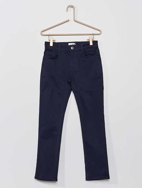 Pantalon slim en twill éco-conçu                                                                 bleu marine