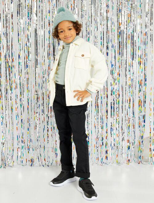 Pantalon slim en twill éco-conçu                                                                                                                                                                             noir