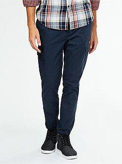 Pantalon - Pantalon slim en twill façon jogging