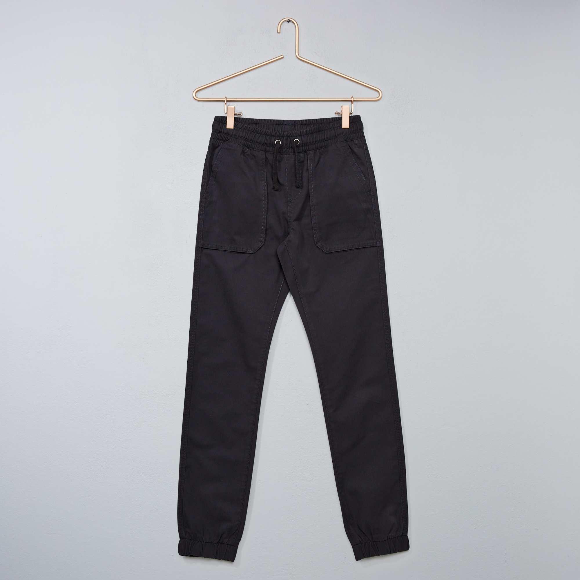 Couleur : marron, gris foncé, ,, - Taille : S, XS, M,,Le pantalon qui s'adapte à toutes les morphologies ! - Pantalon en twill - Slim fit
