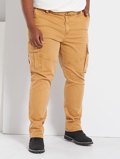 Pantalon slim esprit battle                                         beige