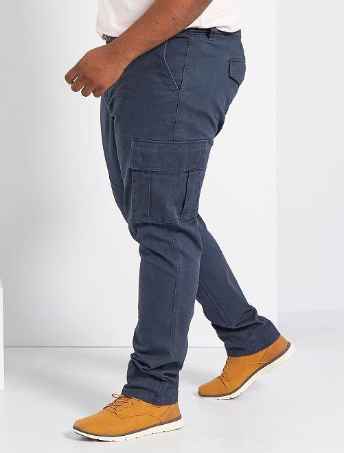 Pantalon slim esprit battle                             bleu marine