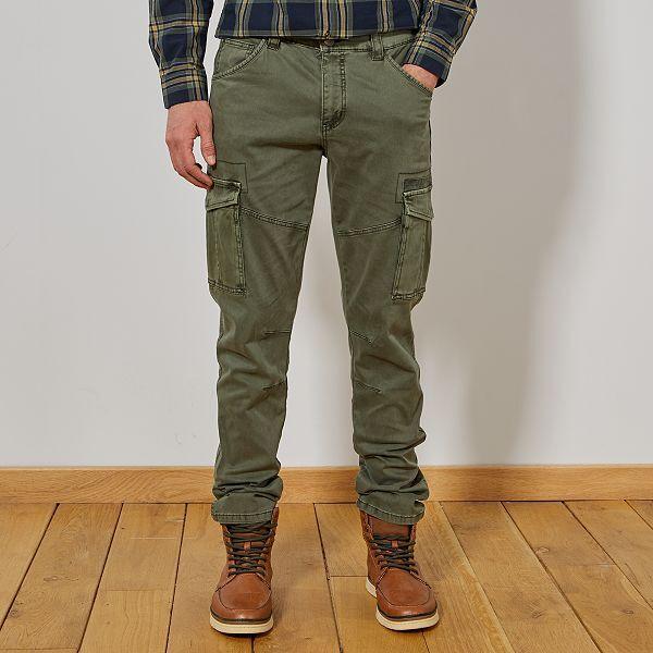 pantalon homme cargo kiabi