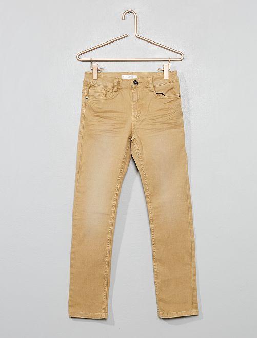 Pantalon slim                                                                                                                                                                                                                                         ficelle Garçon
