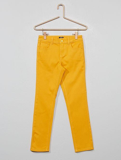 Pantalon slim                                                                                                                                                                              JAUNE Fille