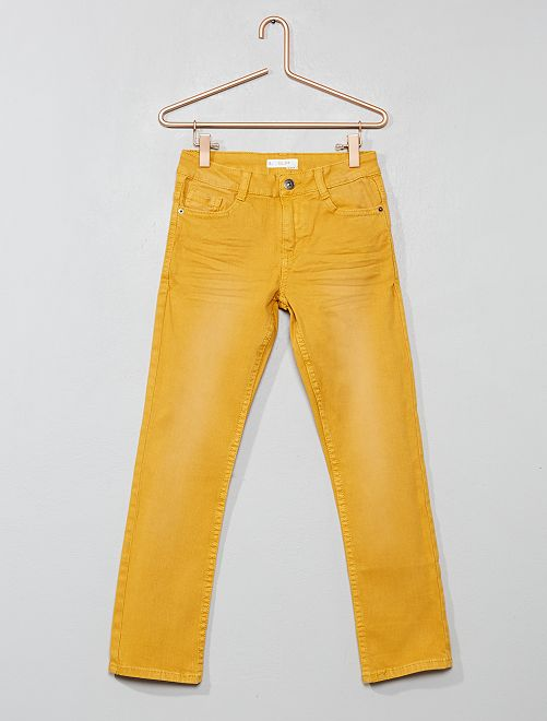 Pantalon slim                                                                                                                                                                                                                                         JAUNE Garçon