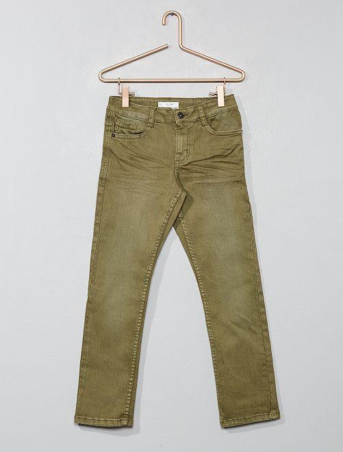Pantalon slim                                                                                                                                                                                                                                         kaki Garçon