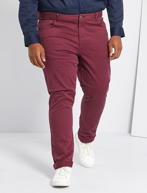 Pantalon slim L34                                                     bordeaux
