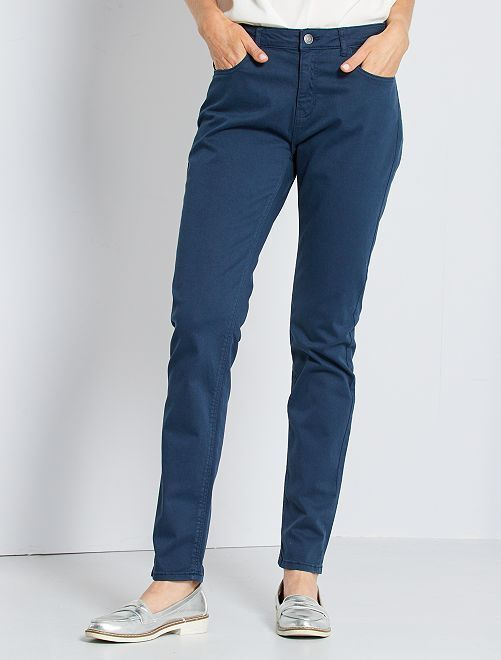 Pantalon slim multipoches                                                                                                                             bleu marine
