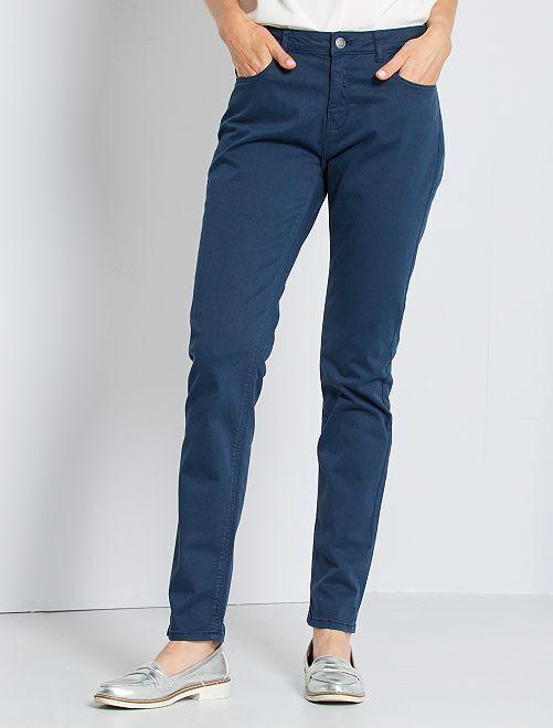 Pantalon slim multipoches                                                                                                                                                                 bleu marine