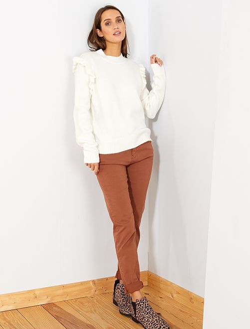 Pantalon slim multipoches                                                                                                                                         brun