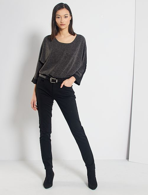 Pantalon slim multipoches                                                                                                                                         noir