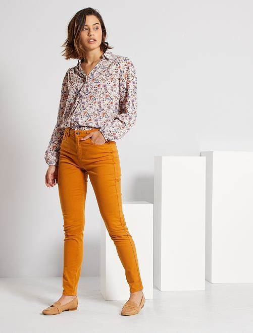 Pantalon slim multipoches                                                                                                                                                                                         orange
