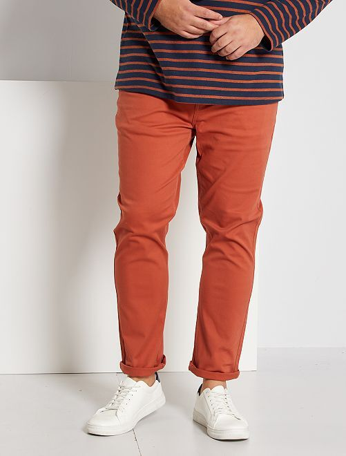 Pantalon slim                                                                                                     orange brique