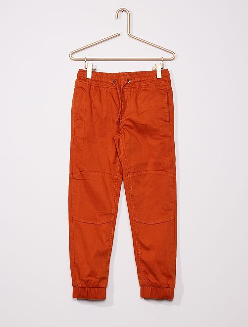 Pantalon slim                             orange