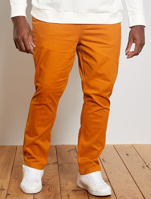 Pantalon slim                                                                             orange