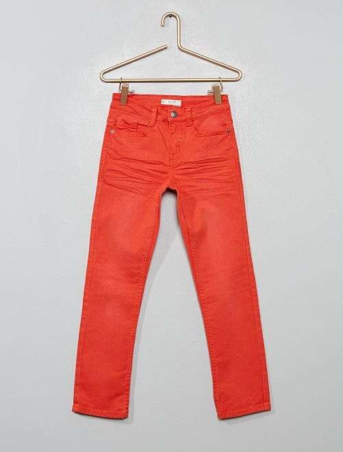 Pantalon slim                                                                                                                                                                                                                                                                                                                             orange paprika