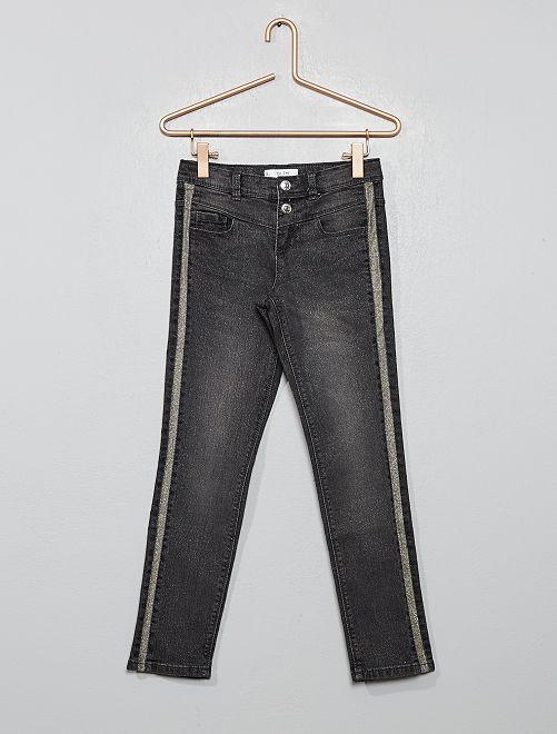 Pantalon slim pailleté                                         gris
