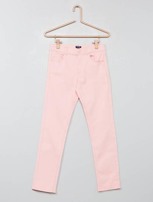 Pantalon slim                                                                                                                                                                              rose poudré Fille