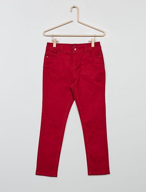 Pantalon slim                                         rouge foncé