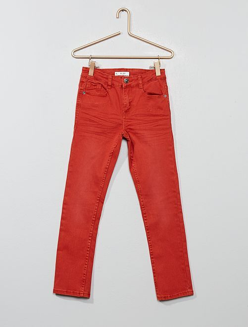 Pantalon slim                                                                                                                                                                                                                                         rouge ocre