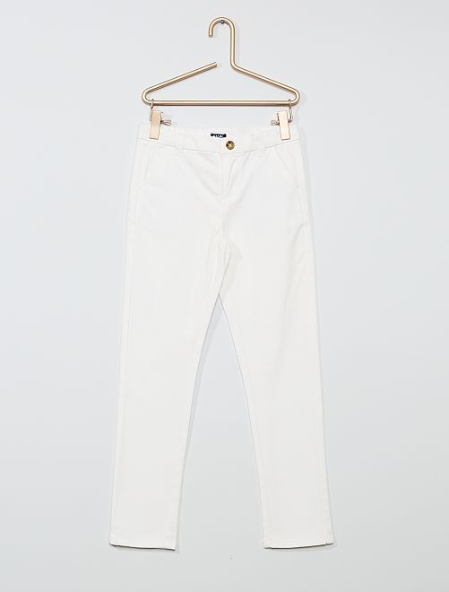 Pantalon slim stretch                                                                 blanc