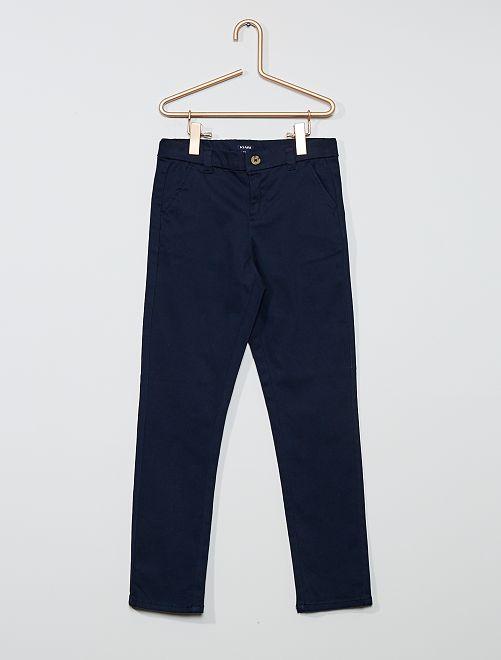Pantalon slim stretch                                                                 bleu marine