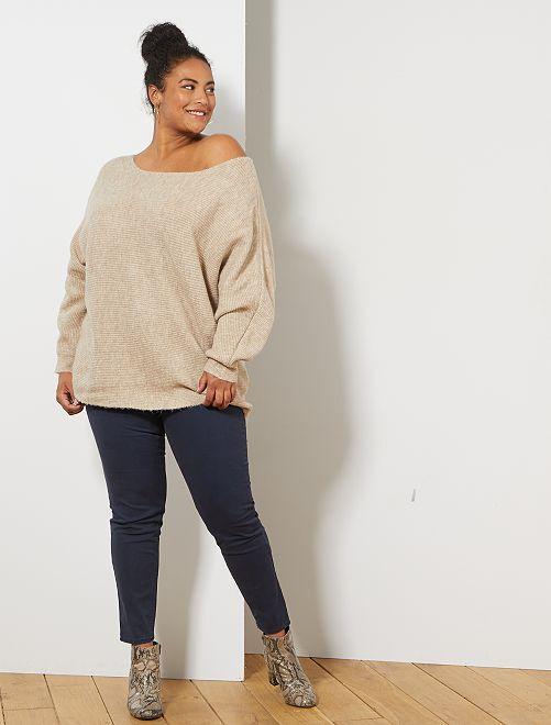 Pantalon Slim stretch                                                                 bleu marine Grande taille femme