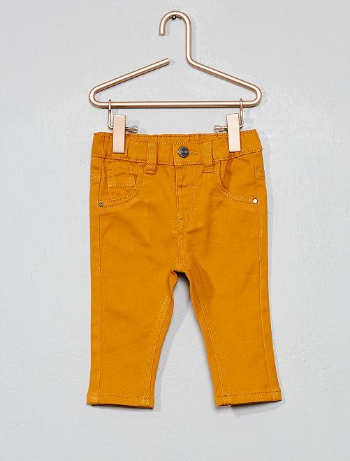 Pantalon slim stretch                                                     jaune ocre Bébé garçon