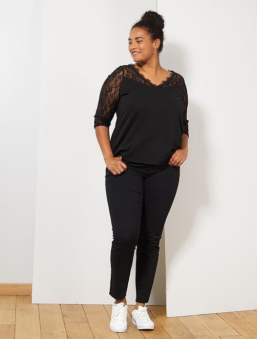 Pantalon Slim stretch                                 noir