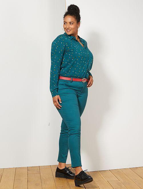 Pantalon Slim stretch                                                                 vert profond Grande taille femme