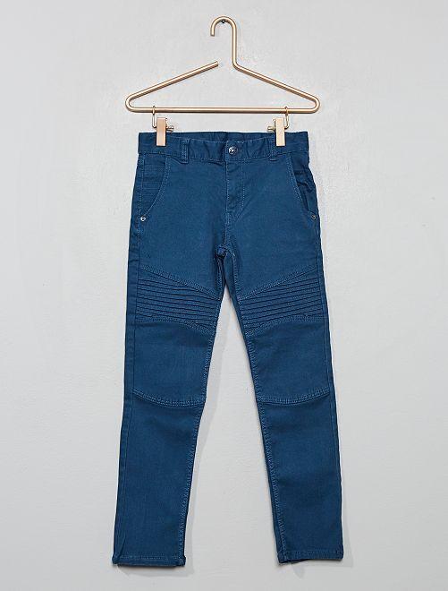 Pantalon slim style 'biker'                                                     bleu foncé
