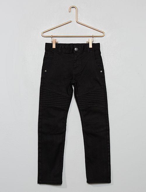 Pantalon slim style 'biker'                                                     noir