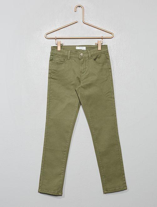 Pantalon slim uni                                                                             kaki