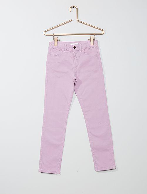 Pantalon slim uni                                                                             mauve clair