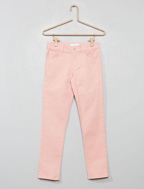 Pantalon slim uni                                                                 rose