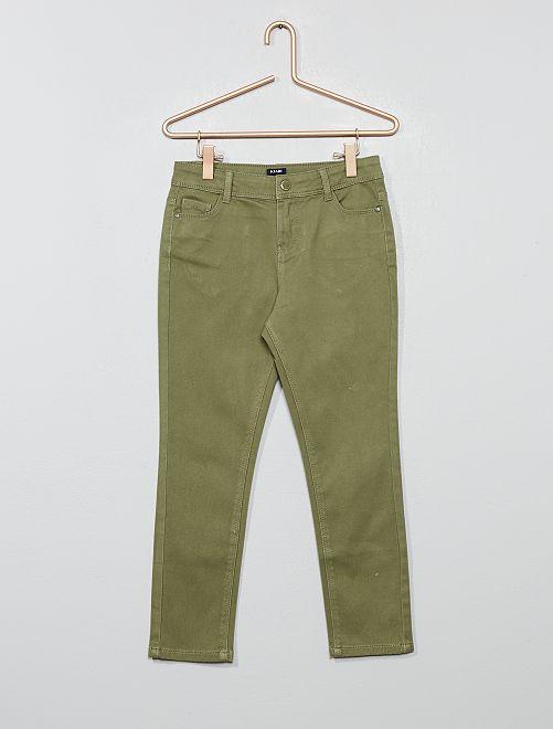 Pantalon slim                                         vert lichen
