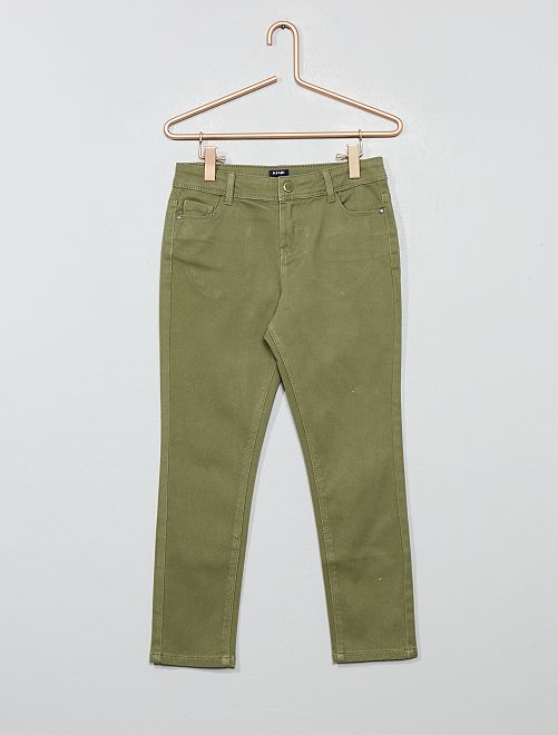 Pantalon slim                                         vert lichen Fille