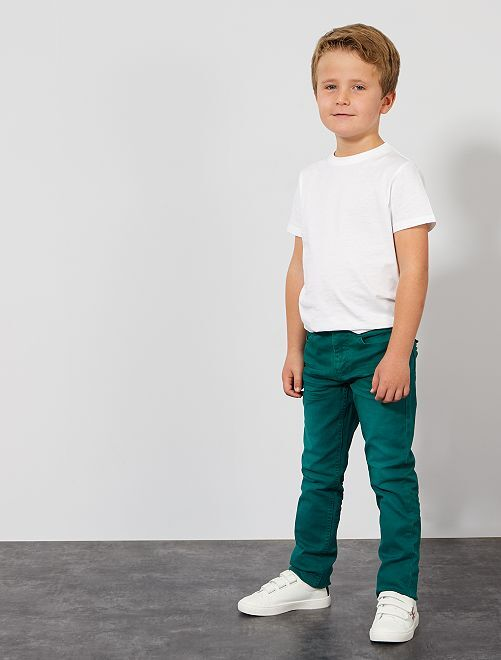 Pantalon slim                                                                                                                                                                                                                                         vert profond